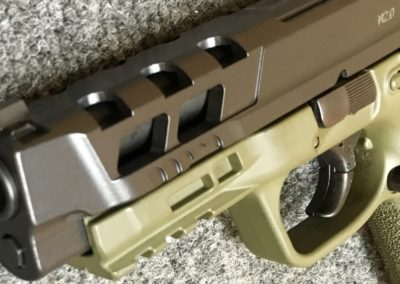 M&P 2.0 Custom Slide Milling + OD GREEN CERAKOTE