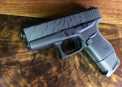 GLOCK 43 CUSTOM SLIDE MILLING + GUN METAL GREY CERAKOTE